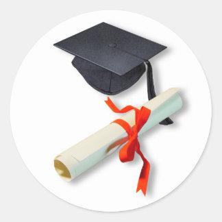 Graduación Pegatina Redonda