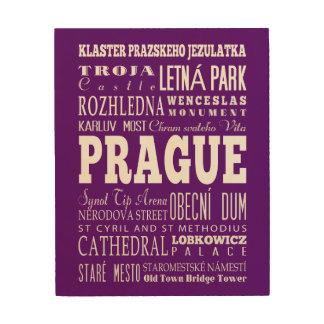 Graduación Praga única, idea del regalo de la Cuadro De Madera