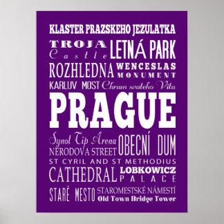 Graduación Praga única, idea del regalo de la Póster