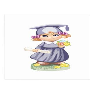 Graduación preescolar tarjeta postal