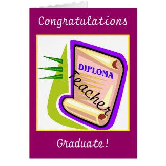 Graduación - profesor tarjeta de felicitación