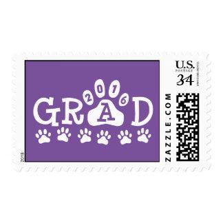 Graduación púrpura 2016 del tema de la impresión sello