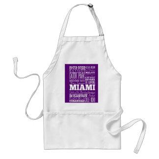 Graduación regalo de Miami única, la Florida Delantal