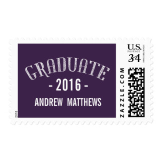 Graduación retra 2016 de la púrpura timbre postal
