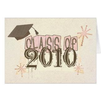 Graduación retra del estilo del chica conocido de tarjeta de felicitación