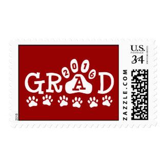 Graduación roja 2016 del tema de la impresión de estampillas