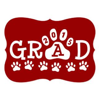 Graduación roja de las patas de las invitaciones invitación 12,7 x 17,8 cm
