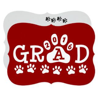 """Graduación roja de las patas de las invitaciones invitación 5"""" x 7"""""""