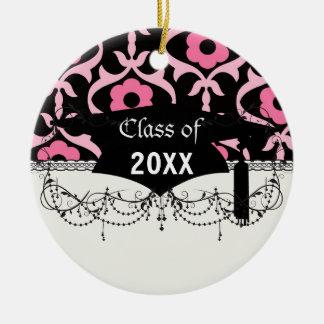 graduación rosada elegante caprichosa del damasco ornatos