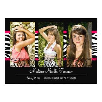 Graduación rosada elegante de la foto del cordón y anuncios