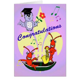 Graduación temática de los cangrejos de Cajun Tarjeta De Felicitación