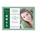 Graduación triple del capítulo (verde y blanco) invitación 12,7 x 17,8 cm