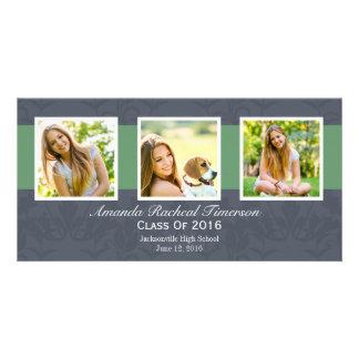 Graduación verde elegante de la pizarra de la foto tarjetas fotograficas
