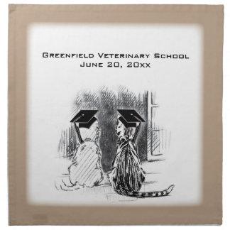 Graduación veterinaria, perro y gato, regalos servilletas imprimidas