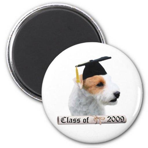 Graduado 09 de Russell Terrier del párroco Imán Redondo 5 Cm