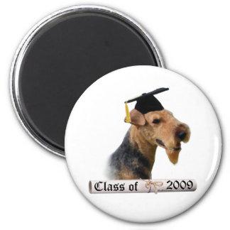 Graduado 09 de Terrier galés Imán Redondo 5 Cm