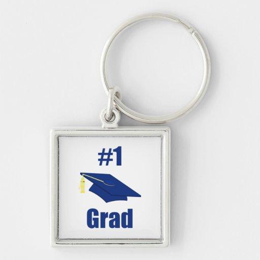 Graduado #1 (azul) llavero