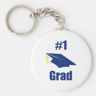 Graduado #1 (azul) llavero redondo tipo pin