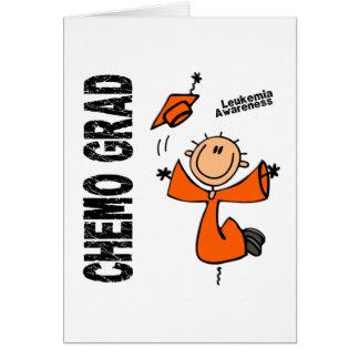 GRADUADO 1 de la leucemia CHEMO Tarjeton