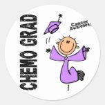 GRADUADO 1 del cáncer CHEMO Pegatina