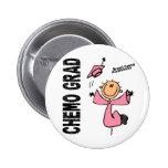 GRADUADO 1 del cáncer de pecho CHEMO Pin Redondo 5 Cm