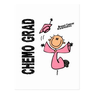 GRADUADO 1 del cáncer de pecho CHEMO Tarjeta Postal
