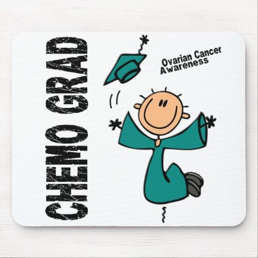 GRADUADO 1 del cáncer ovárico CHEMO Alfombrillas De Ratones
