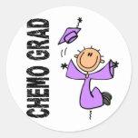GRADUADO 1 (general Cancer) de la lavanda CHEMO Pegatinas Redondas