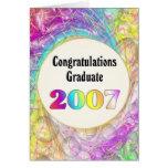 Graduado 2007 de la enhorabuena tarjeta de felicitación