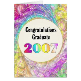 Graduado 2007 de la enhorabuena felicitacion
