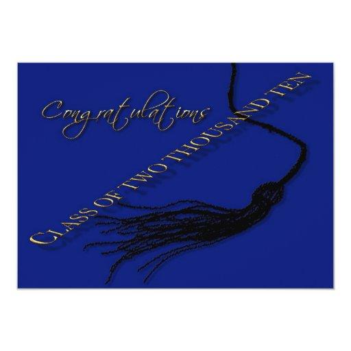 """Graduado 2010 de la enhorabuena invitación 5"""" x 7"""""""