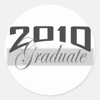 Graduado 2010 pegatina redonda