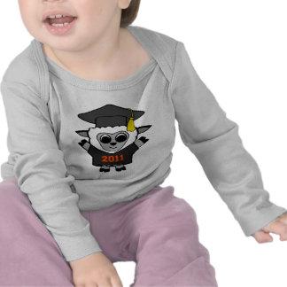 Graduado 2011 del negro y del naranja de las camiseta