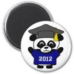 Graduado 2012 de los azules marinos y del blanco d imanes