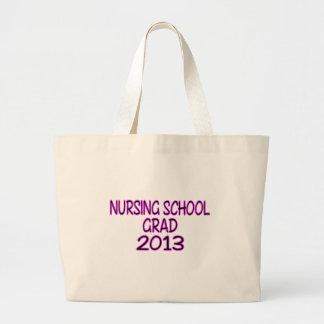 Graduado 2013 de la escuela de enfermería bolsa tela grande