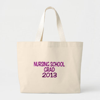 Graduado 2013 de la escuela de enfermería bolsas lienzo
