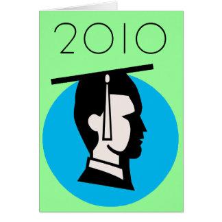 Graduado adaptable del varón tarjeta de felicitación