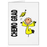 GRADUADO amarillo 1 (sarcoma) de CHEMO Tarjeta De Felicitación