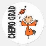 GRADUADO anaranjado 1 (cáncer de CHEMO del riñón) Etiquetas Redondas