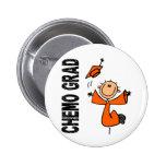 GRADUADO anaranjado 1 (cáncer de CHEMO del riñón) Pin Redondo 5 Cm