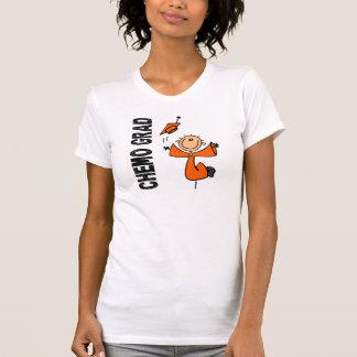 GRADUADO anaranjado 1 cáncer de CHEMO del riñón Camisetas