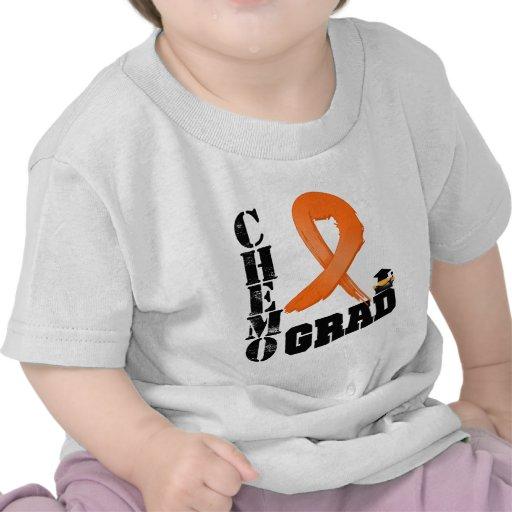 Graduado anaranjado de Chemo de la cinta del cánce Camiseta