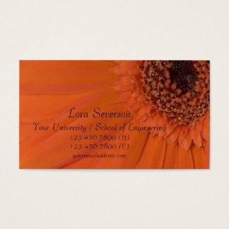 Graduado anaranjado de la margarita de Gerber Tarjetas De Visita