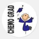 GRADUADO azul 1 (cáncer de colon) de CHEMO Pegatina