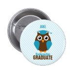 Graduado azul lindo personalizado de la guardería  pins