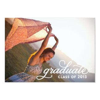 Graduado - clase de 2013 - invitación de la foto