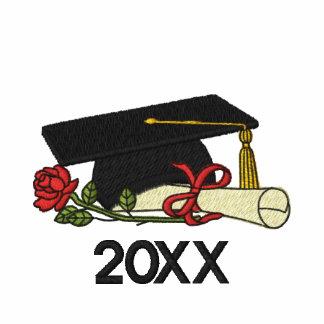 Graduado color de rosa y del diploma