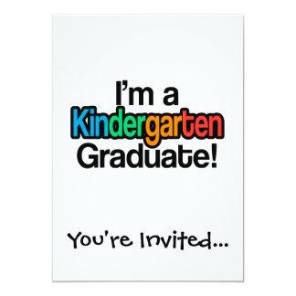 """Graduado colorido de la guardería de la graduación invitación 5"""" x 7"""""""