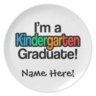 Graduado colorido de la guardería de la graduación platos
