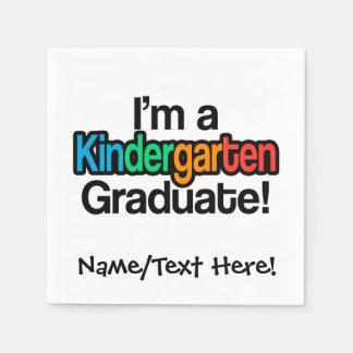 Graduado colorido de la guardería de la graduación servilletas desechables